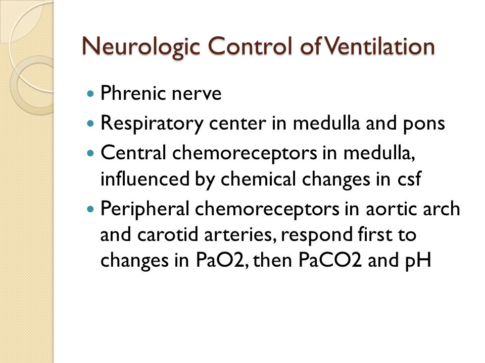 Neurologic Control of Ventilation