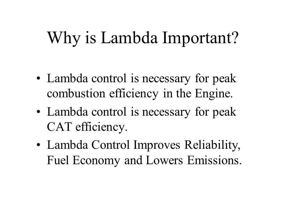 Why is Lambda Important