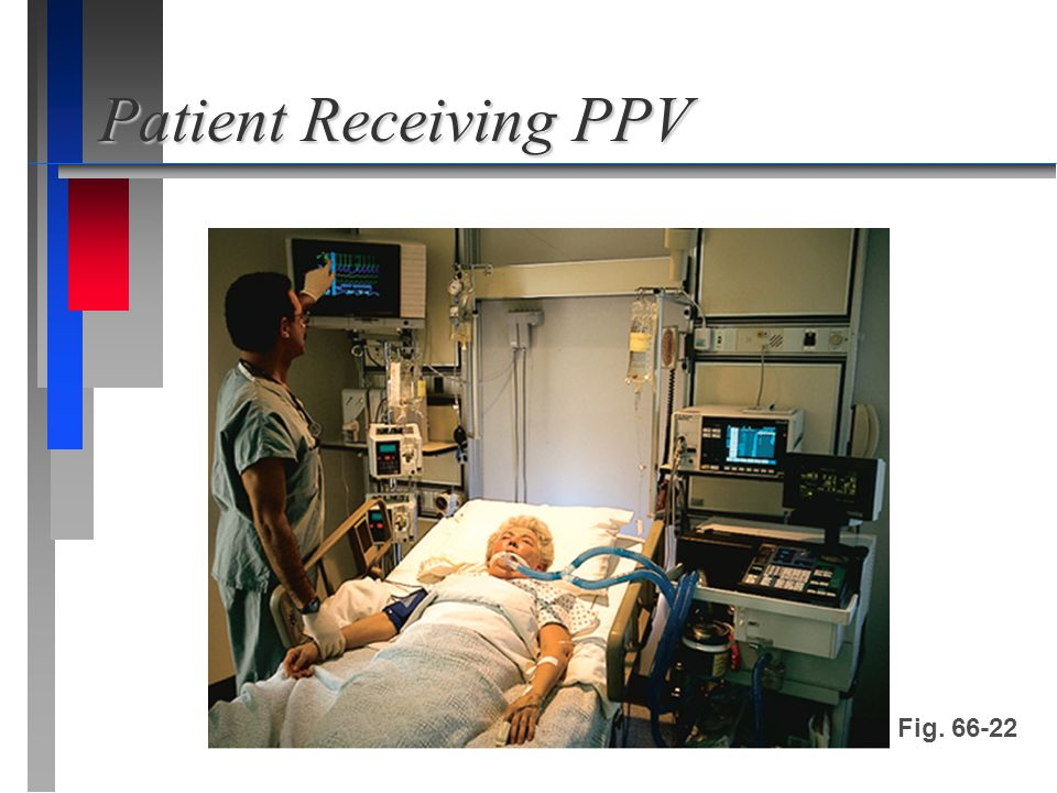 Patient Receiving PPV Fig. 66-22