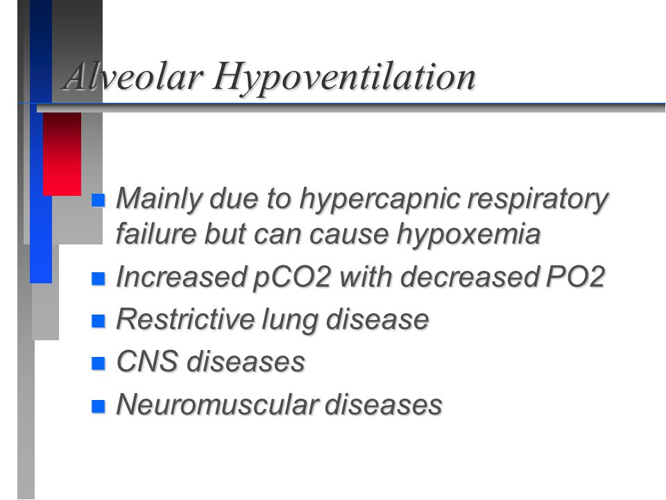 Alveolar Hypoventilation