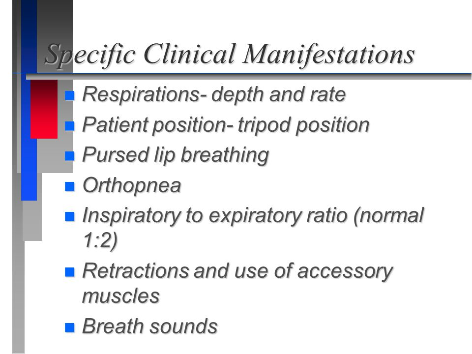 Specific Clinical Manifestations