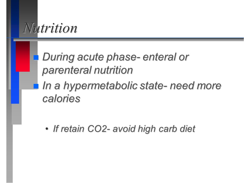 Nutrition During acute phase- enteral or parenteral nutrition