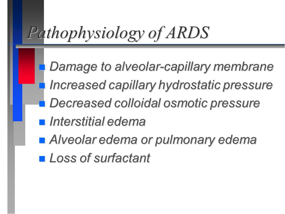 Pathophysiology of ARDS