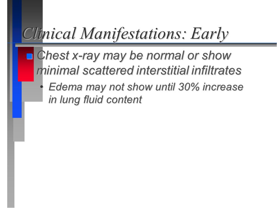 Clinical Manifestations: Early