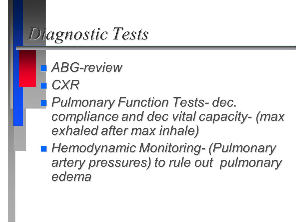 Diagnostic Tests ABG-review CXR