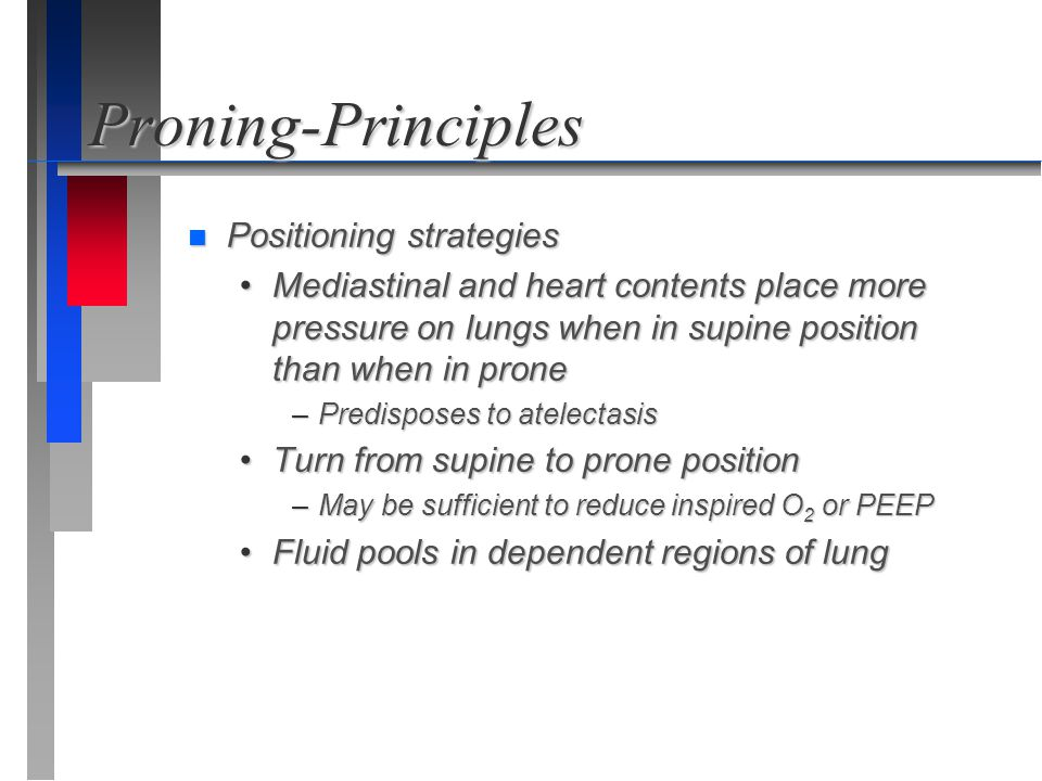 Proning-Principles Positioning strategies