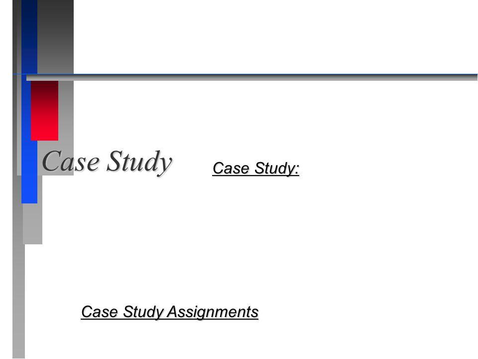 Case Study Case Study: Case Study Assignments