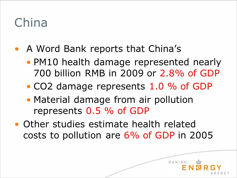 China A Word Bank reports that China's