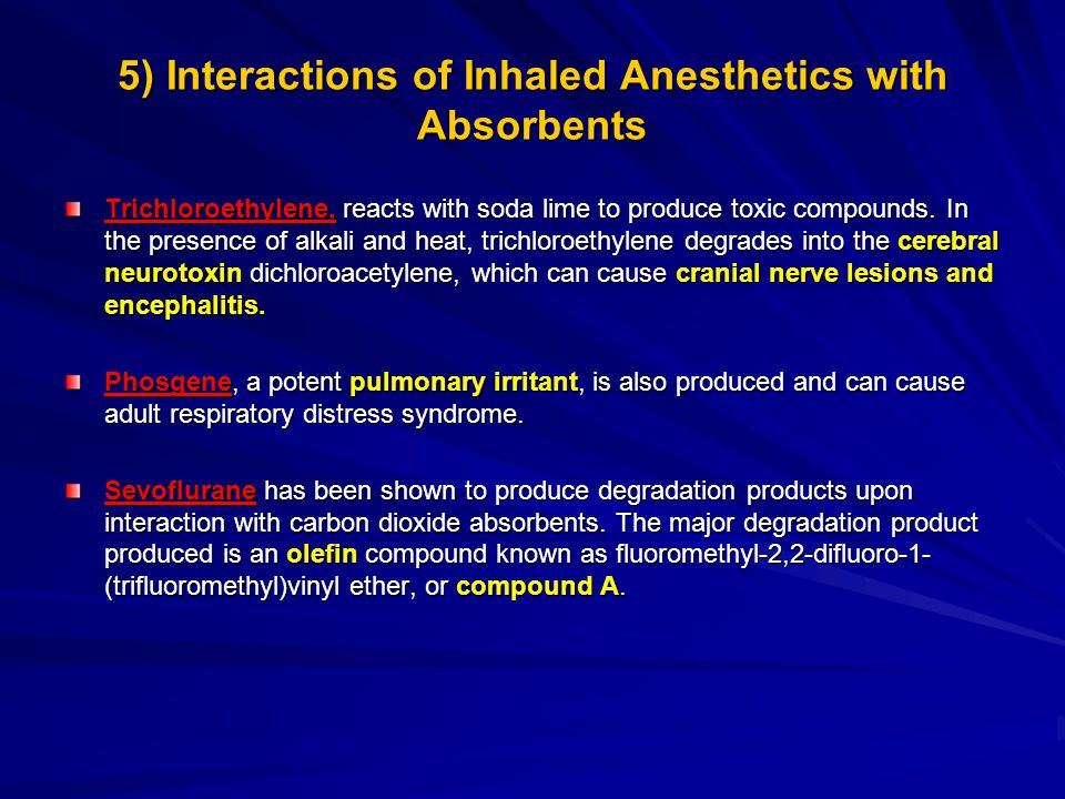 5) Interactions of Inhaled Anesthetics with Absorbents