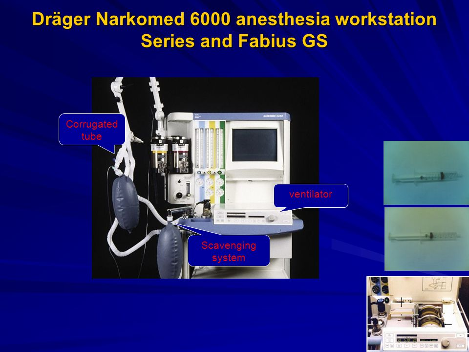 Dräger Narkomed 6000 anesthesia workstation Series and Fabius GS