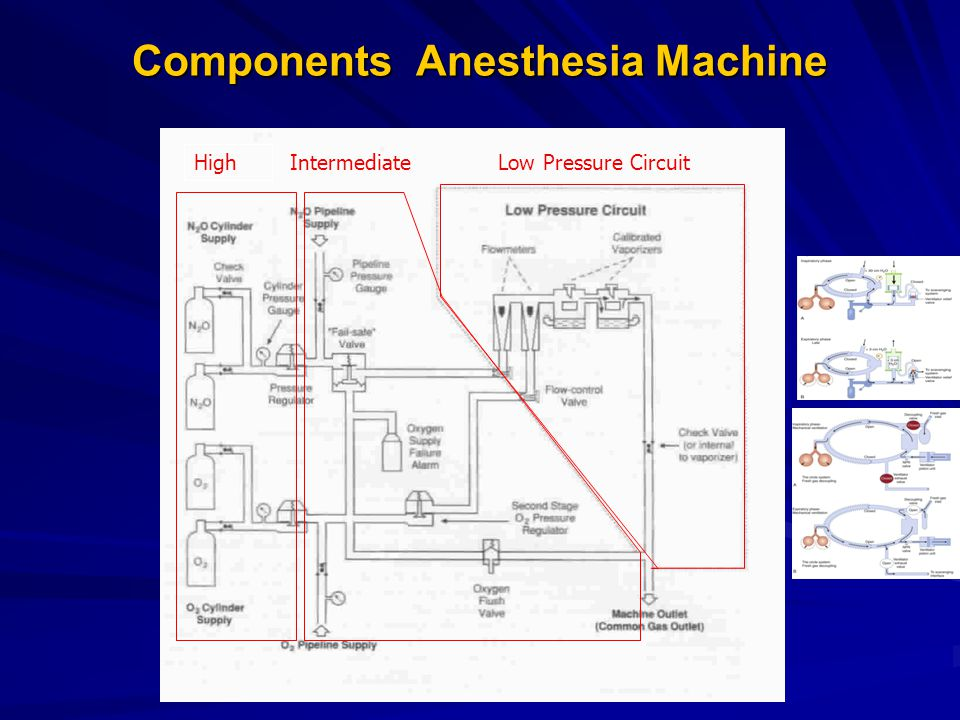 Components Anesthesia Machine