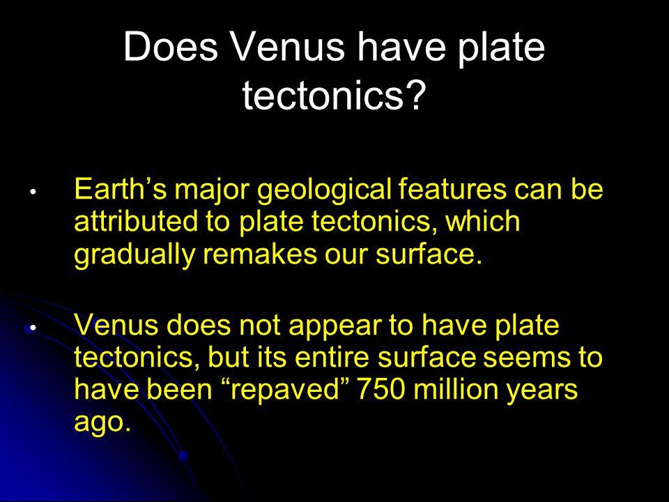 Does Venus have plate tectonics
