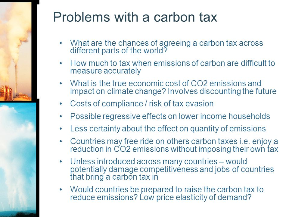 Problems with a carbon tax