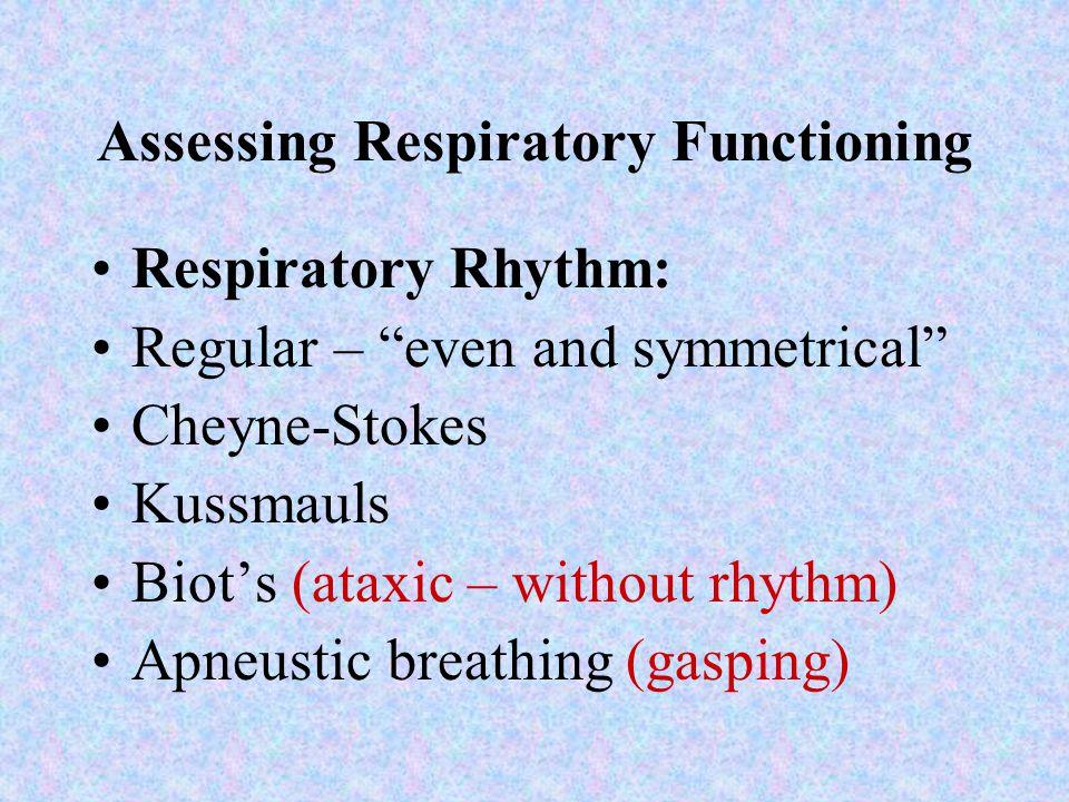 Assessing Respiratory Functioning