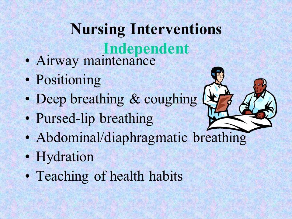 Nursing Interventions Independent