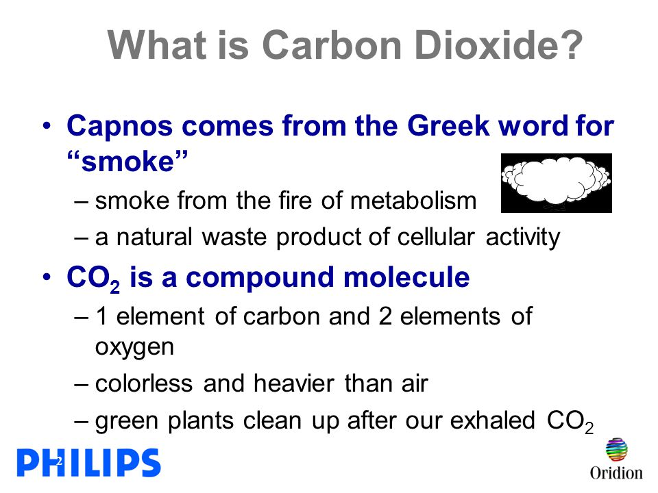 What is Carbon Dioxide Capnos comes from the Greek word for smoke