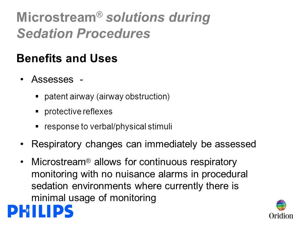 Microstream® solutions during Sedation Procedures