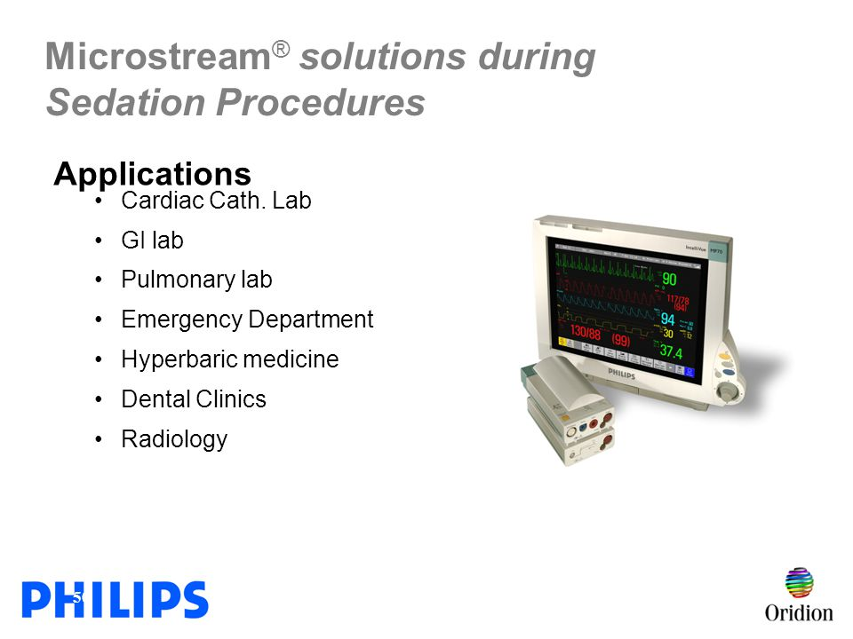 Microstream® solutions during Sedation Procedures