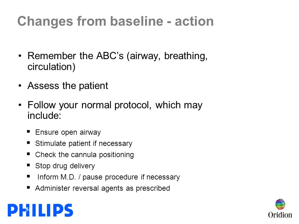 Changes from baseline - action