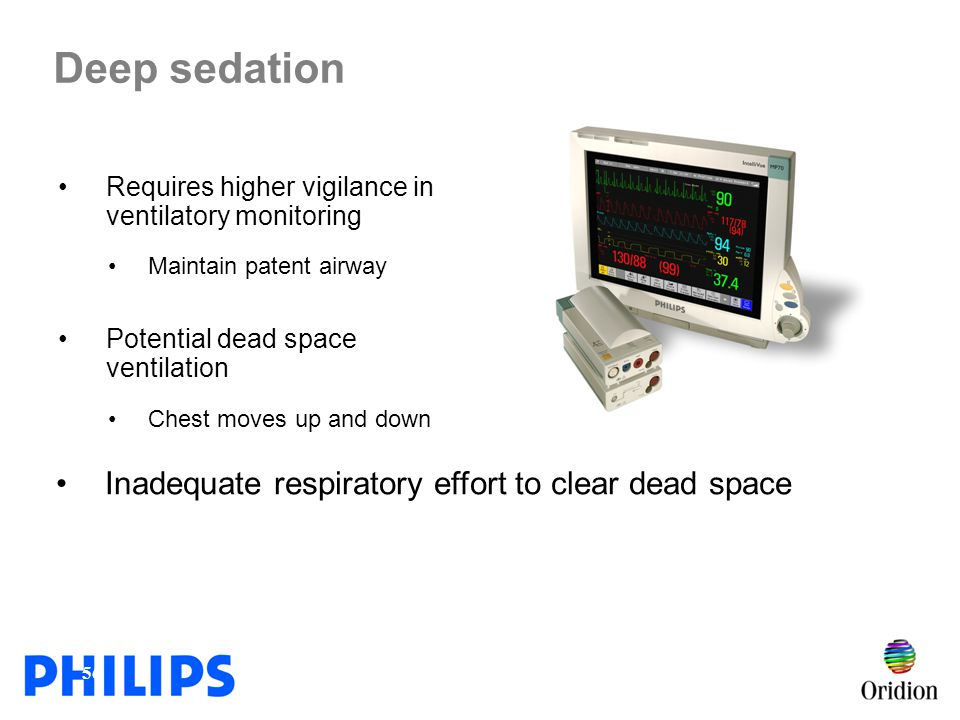 Deep sedation Inadequate respiratory effort to clear dead space