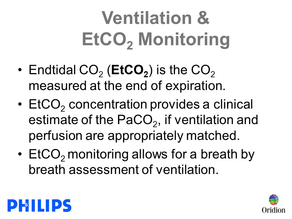 Ventilation & EtCO2 Monitoring