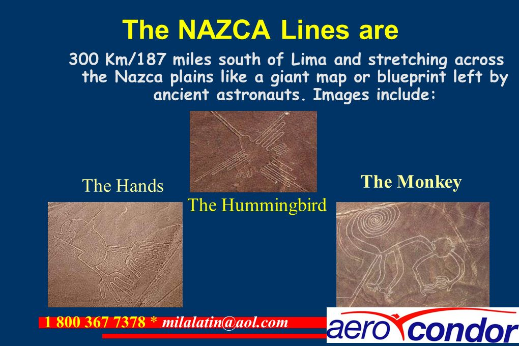 The NAZCA Lines are The Monkey The Hands The Hummingbird