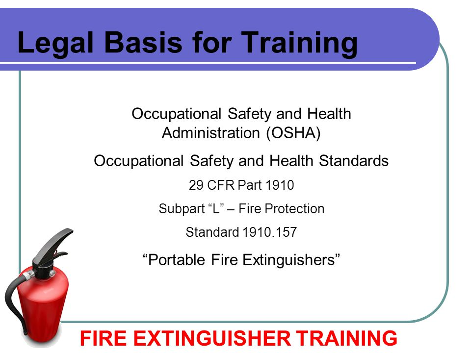 Legal Basis for Training