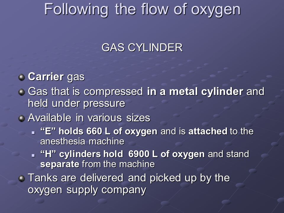 Following the flow of oxygen