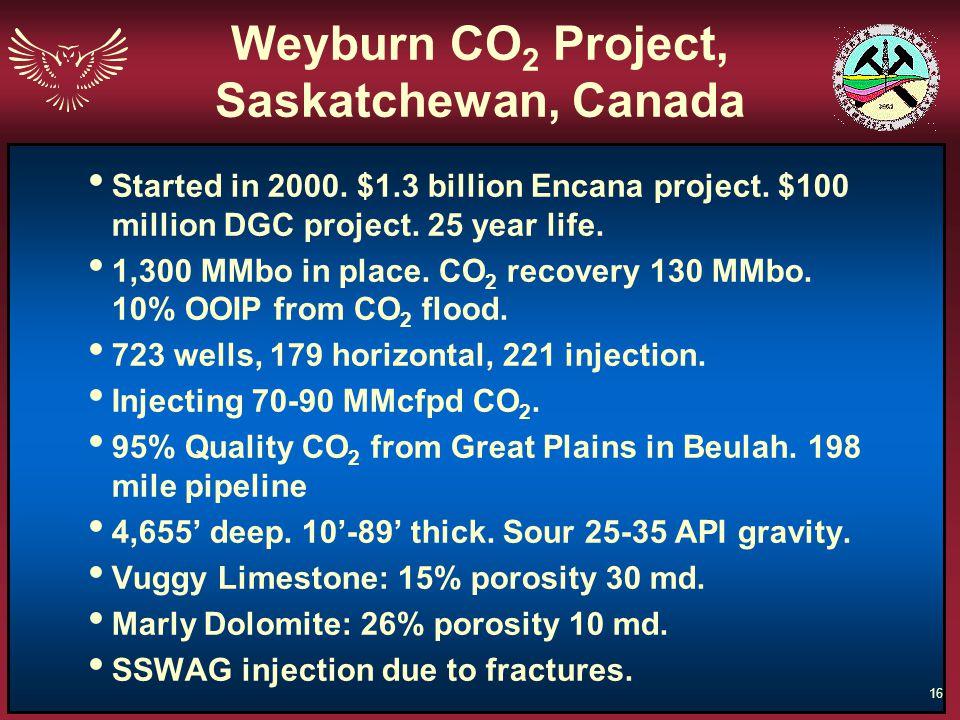 Weyburn CO2 Project, Saskatchewan, Canada
