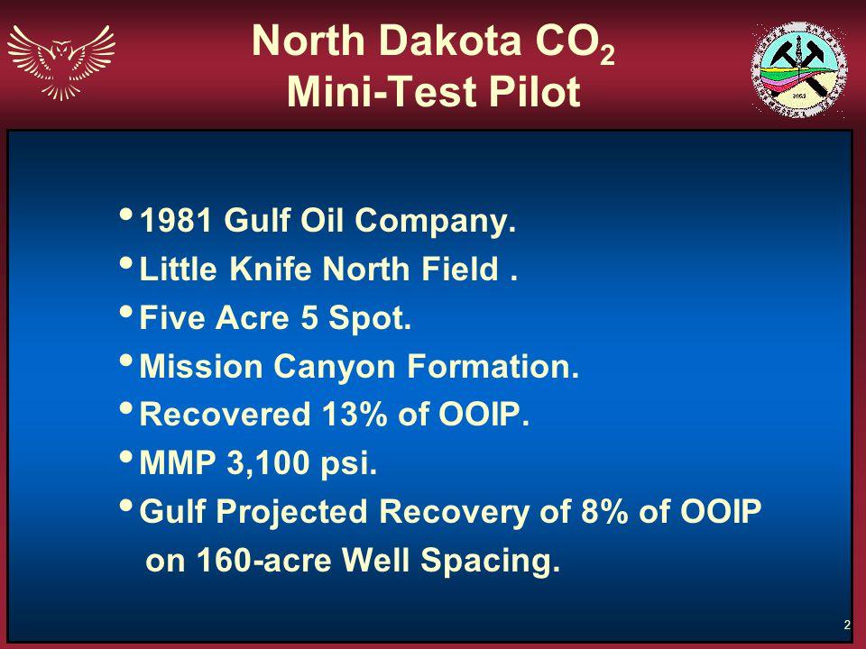 North Dakota CO2 Mini-Test Pilot