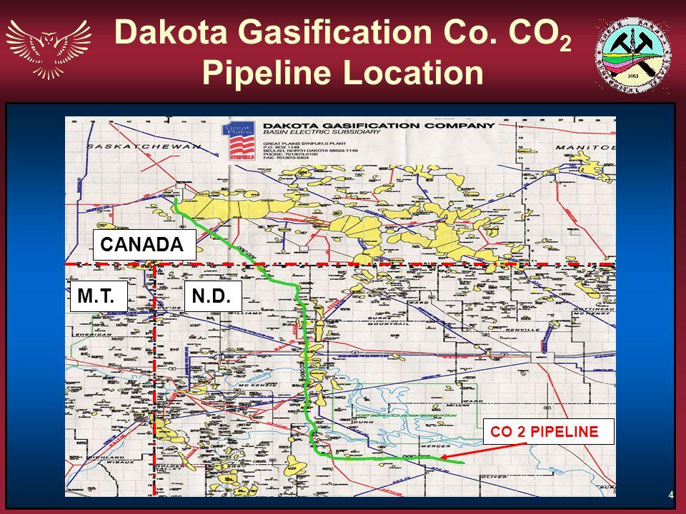 Dakota Gasification Co. CO2 Pipeline Location