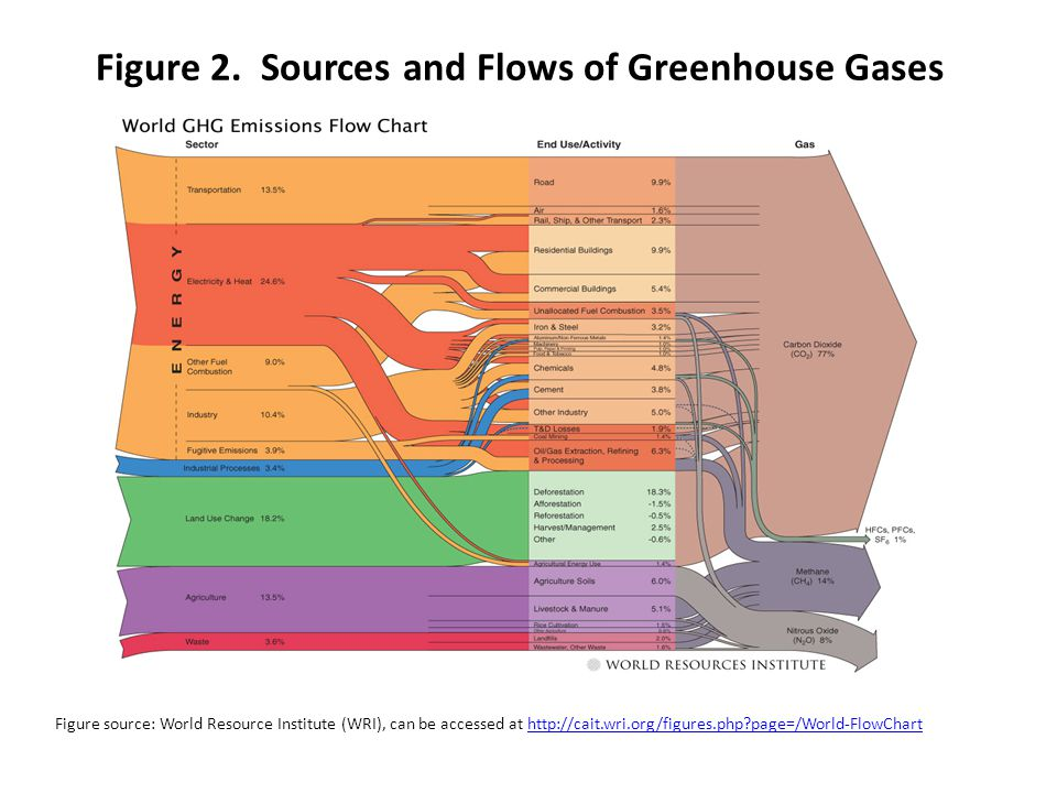 Figure 2. Sources and Flows of Greenhouse Gases