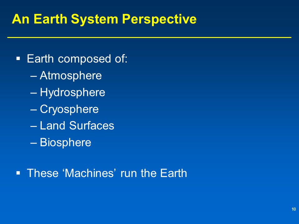 An Earth System Perspective