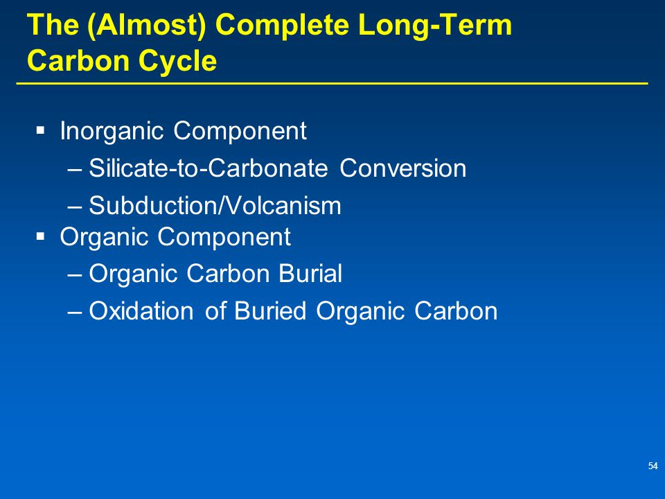 The (Almost) Complete Long-Term Carbon Cycle