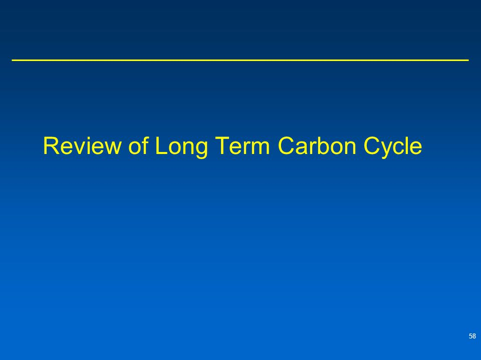 Review of Long Term Carbon Cycle