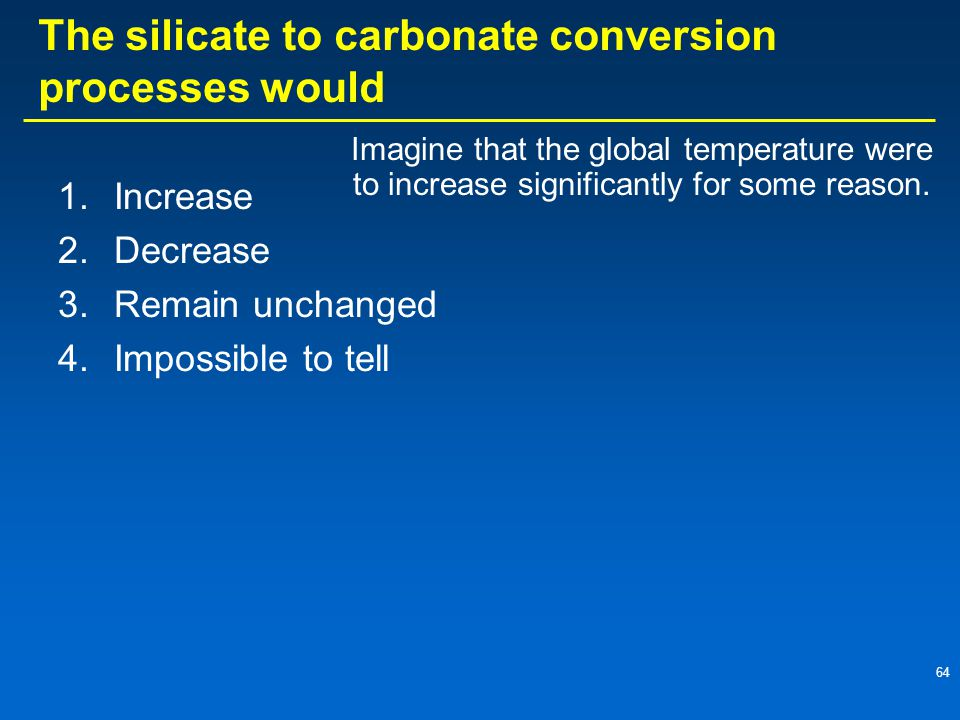 The silicate to carbonate conversion processes would