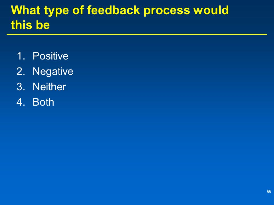 What type of feedback process would this be