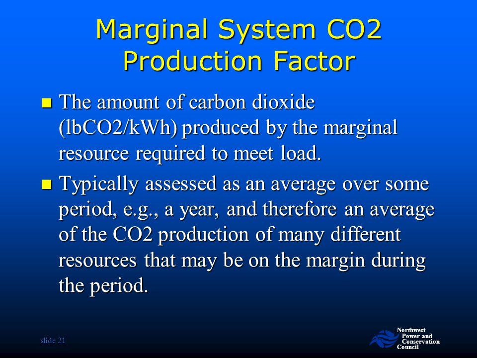 Marginal System CO2 Production Factor