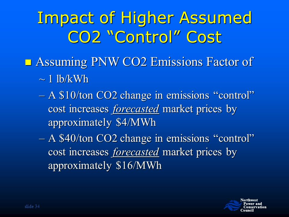 Impact of Higher Assumed CO2 Control Cost