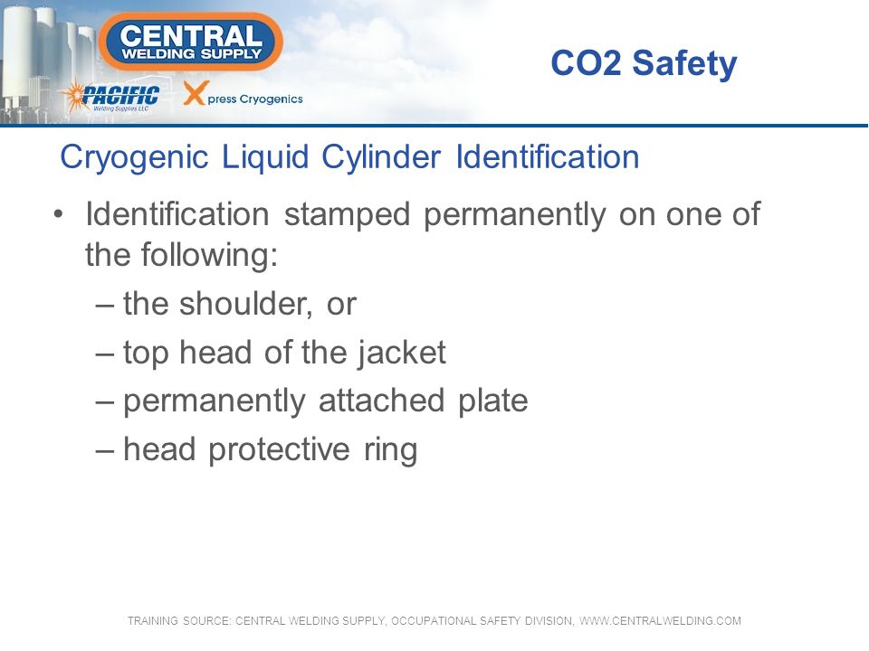 Cryogenic Liquid Cylinder Identification