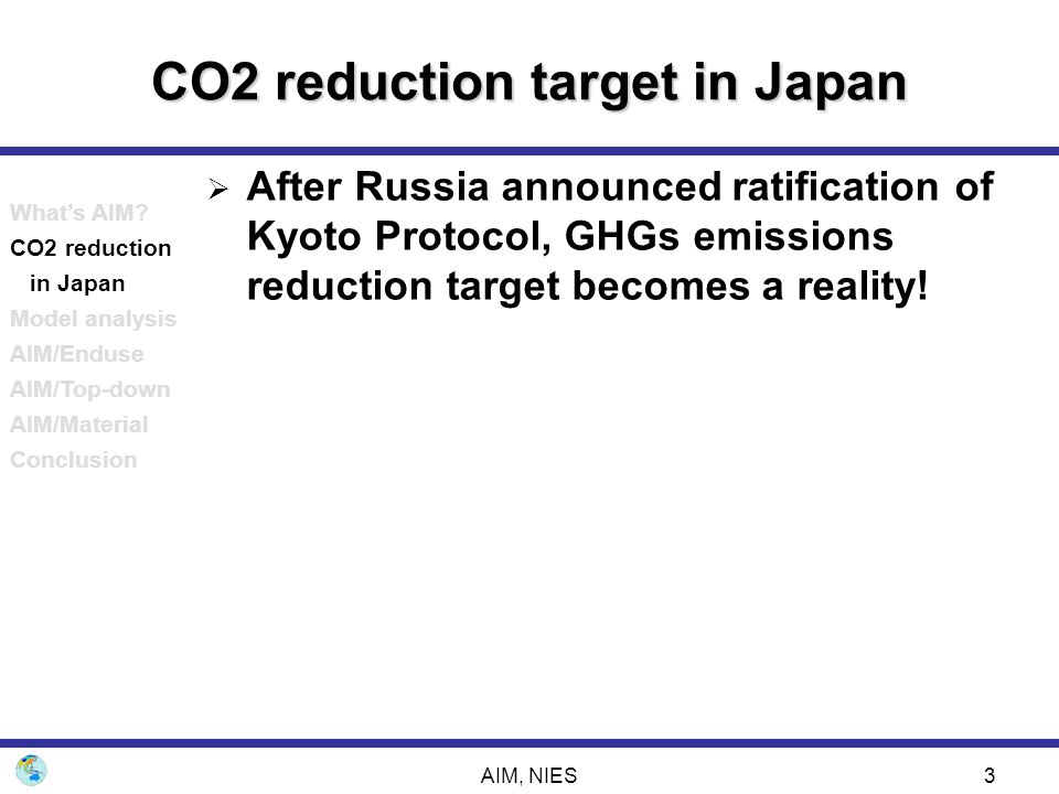 CO2 reduction target in Japan