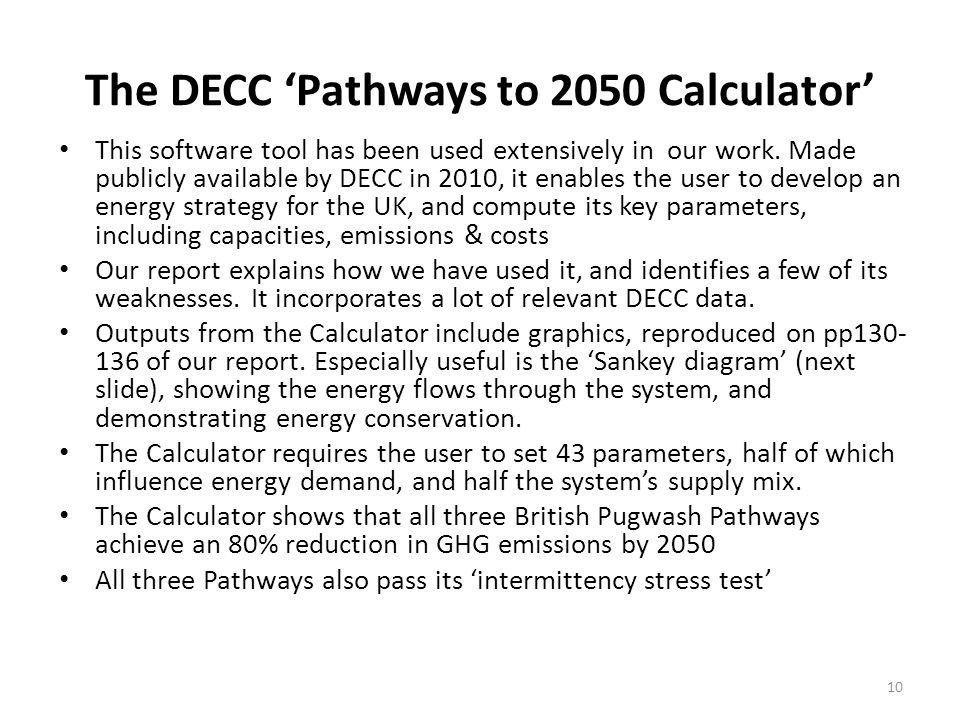 The DECC 'Pathways to 2050 Calculator'