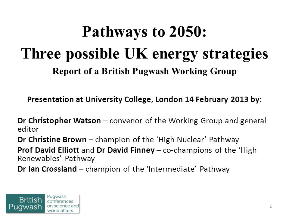 Presentation at University College, London 14 February 2013 by:
