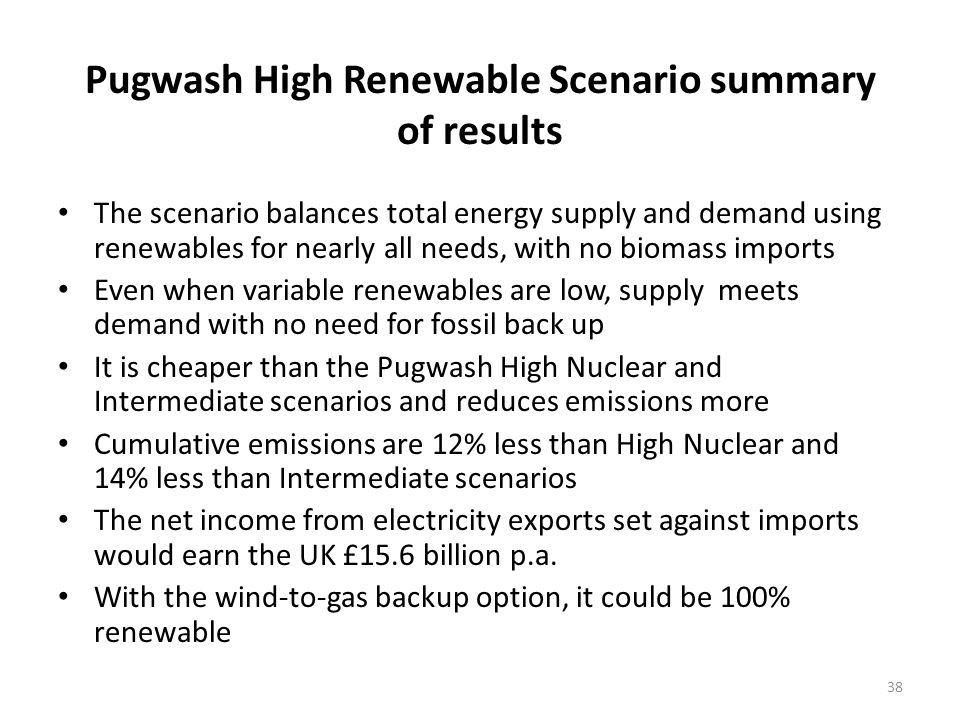 Pugwash High Renewable Scenario summary of results