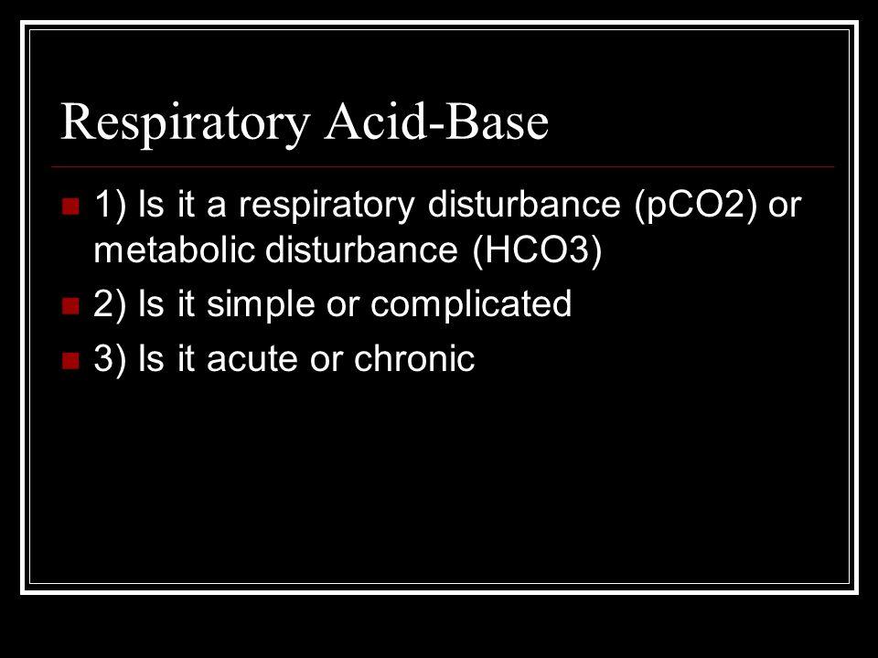 Respiratory Acid-Base