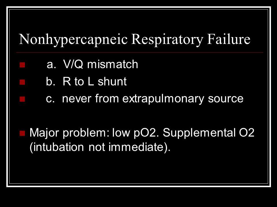 Nonhypercapneic Respiratory Failure