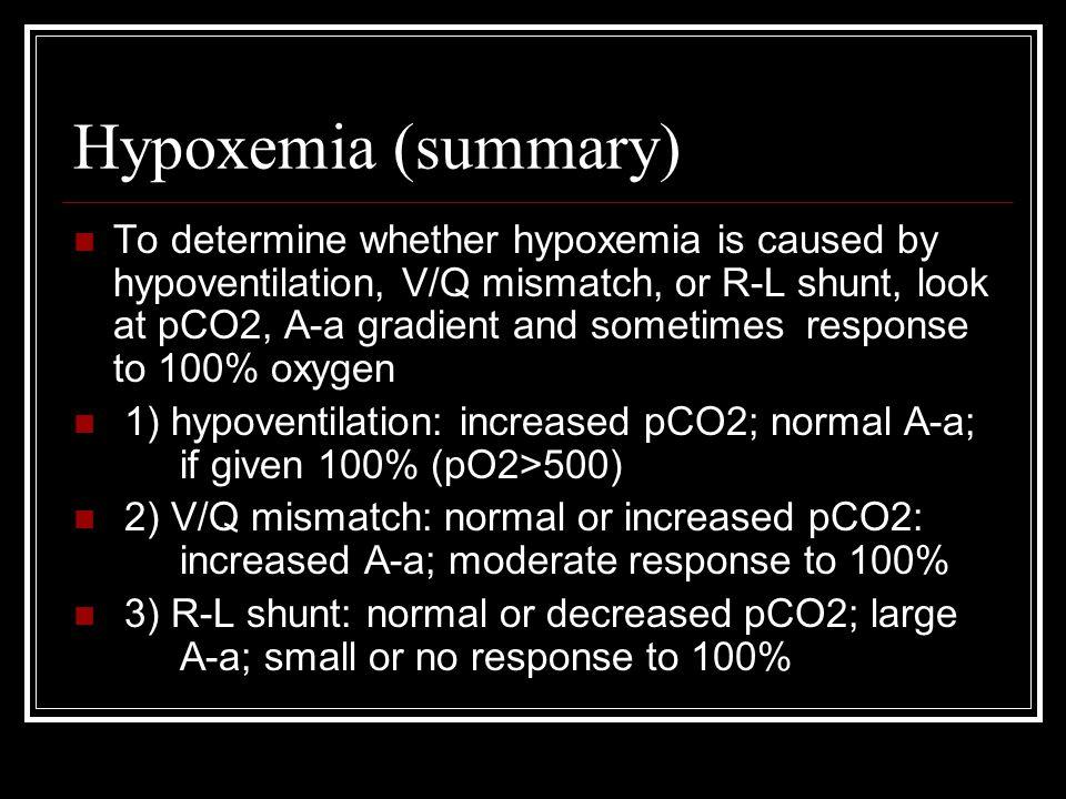Hypoxemia (summary)