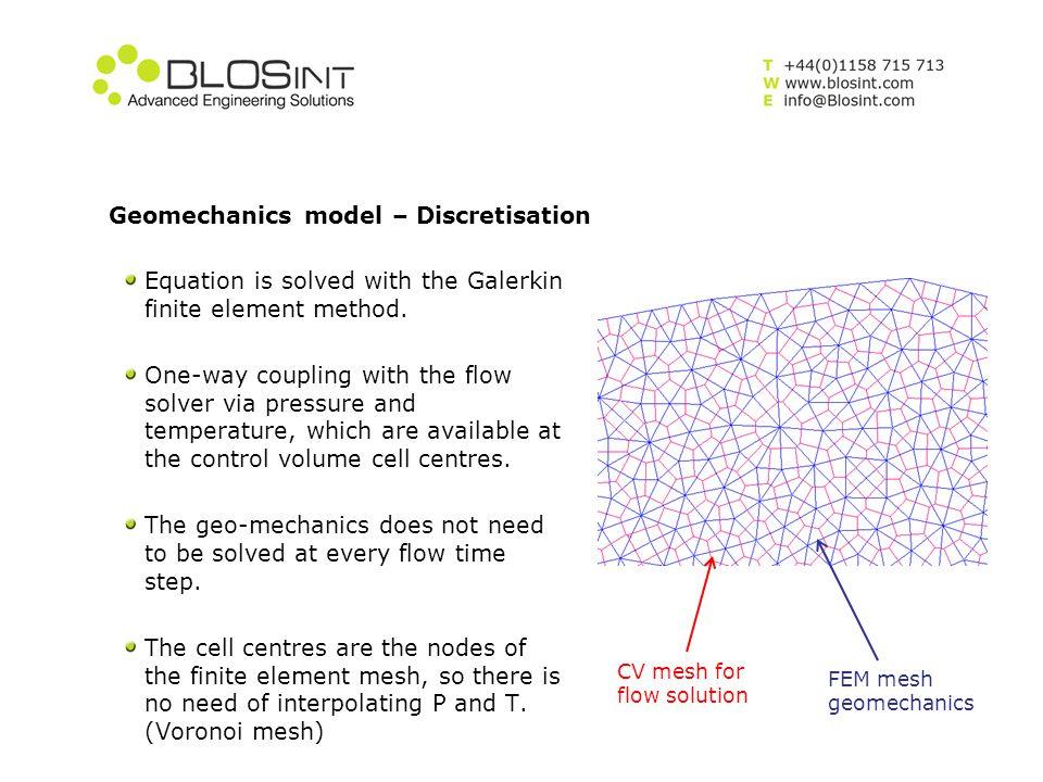 Geomechanics model – Discretisation
