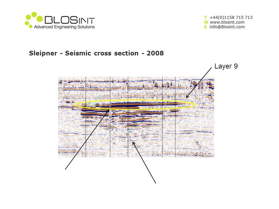 Sleipner - Seismic cross section - 2008