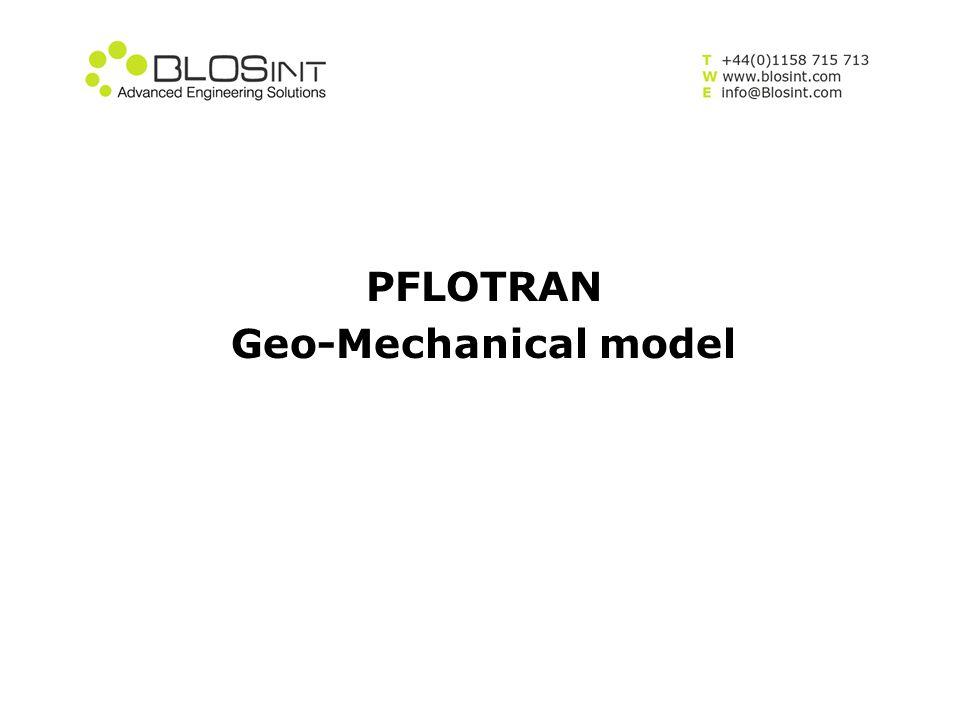 PFLOTRAN Geo-Mechanical model